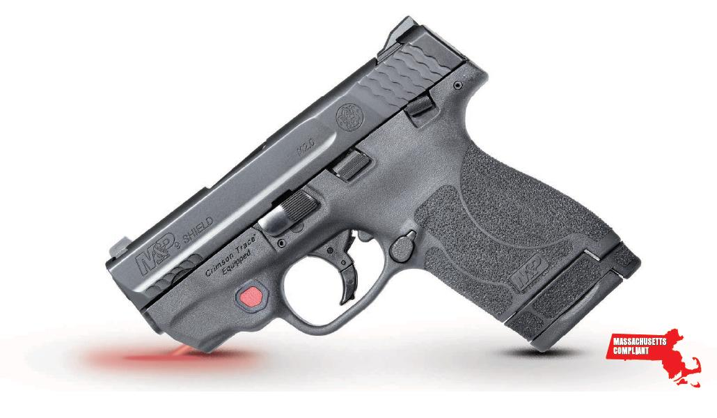 Smith & Wesson 12468 M&P 9 Shield M2.0 *MA Compliant with Crimson Trace Red Laser 9mm Luger 3.10