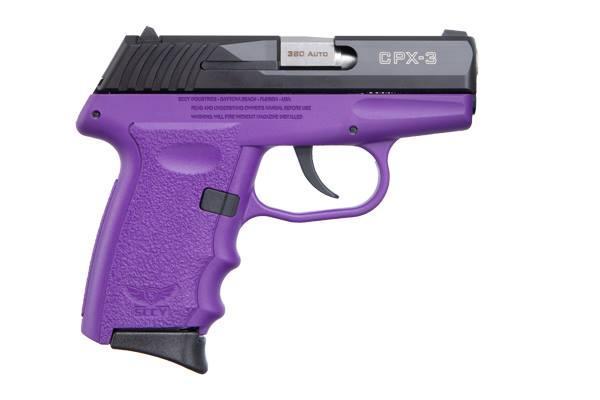 CPX-3 380ACP BLK/PURPLE 10+1 - PURPLE POLYMER FRAME|NO SAFETY