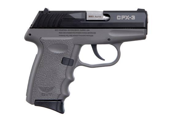 CPX-3 380ACP BLK/GRAY 10+1 - GRAY POLYMER FRAME|NO SAFETY