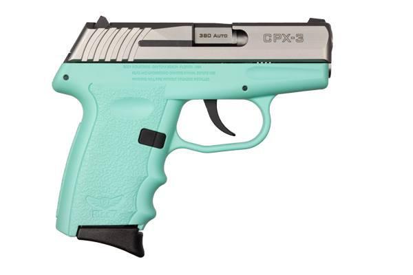 CPX-3 380ACP SS/BLUE 10+1 - BLUE POLYMER FRAME NO SAFETY