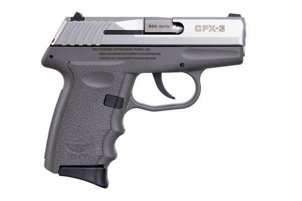 CPX-3 380ACP SS/GRAY 10+1 - GRAY POLYMER FRAME|NO SAFETY