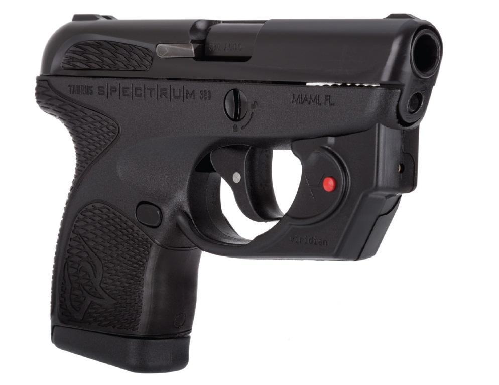 Taurus 1007031101VL Spectrum with Viridian Laser 380 Automatic Colt Pistol (ACP) Double 2.8