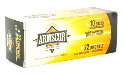 ARMSCOR 22LR HVHP 36GR 500/5000