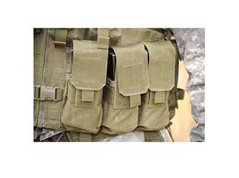 BH STRIKE M4/M16 TRPL MAG PCH (6) BK