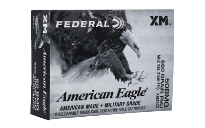 Federal XM33CX American Eagle  50 BMG 660 gr Full Metal Jacket (FMJ) 10 Bx/ 10 Cs