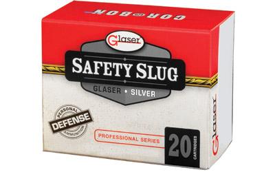 GLASER SILVER 9MM+P 80GR 20/500