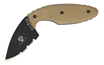 KA-BAR TDI Fixed 2.31 in Black Serrated Blade Coyote Brown