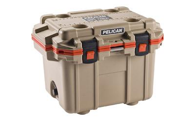 Pelican Elite Cooler  <br>  Tan/Orange 30 qt.