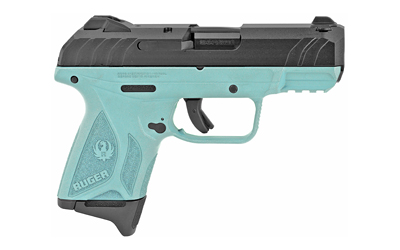 RUGER SECURITY-9 COMPACT 9MM ADJ 10-SHOT TURQUOISE/BLACK