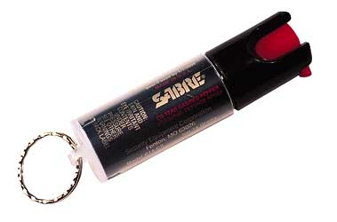 SABRE 3-N-1 SPRAY KEY RING UNIT 15GR