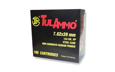 TULA 7.62X39 124GR HP 100/1000