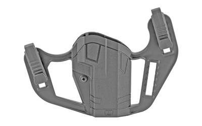 Uncle Mikes 79076 Apparition Hip Holster Black Synthetic IWB/OWB fits Glock 48/S&W EZ Ambidextrous Hand