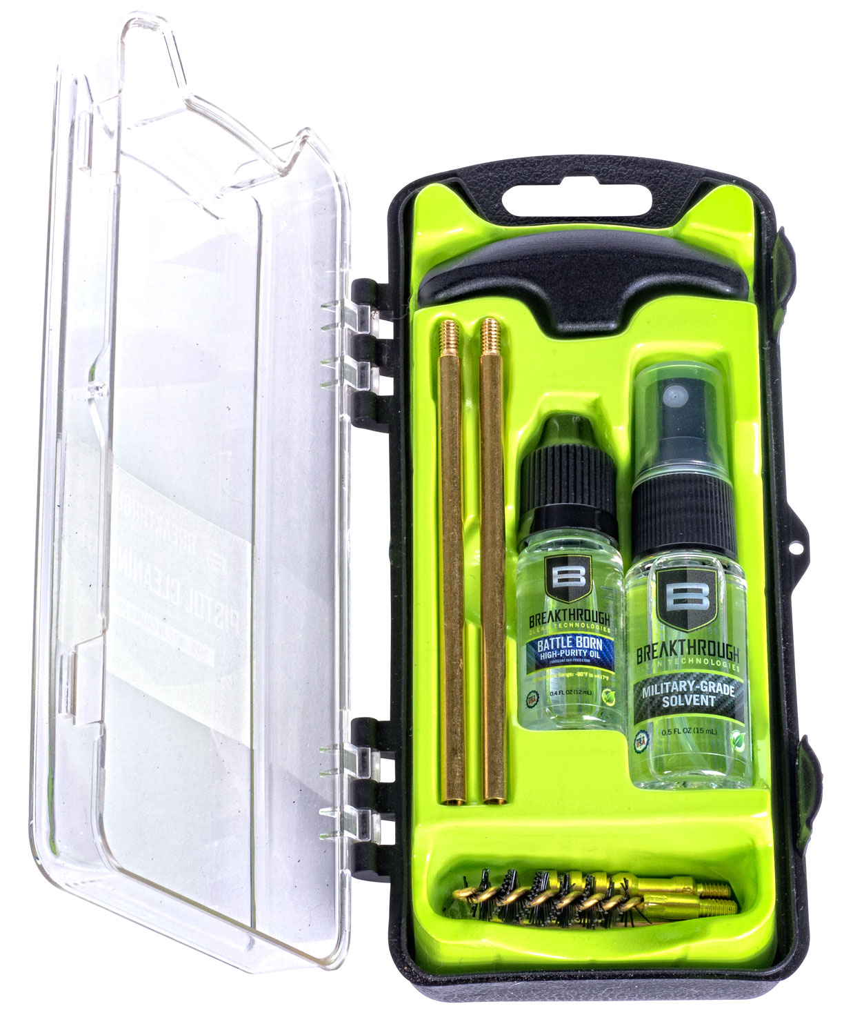 Breakthrough Vision Series Hard Case Cleaning Kit  <br>  Pistol 35 cal. / 38 cal. / 9mm