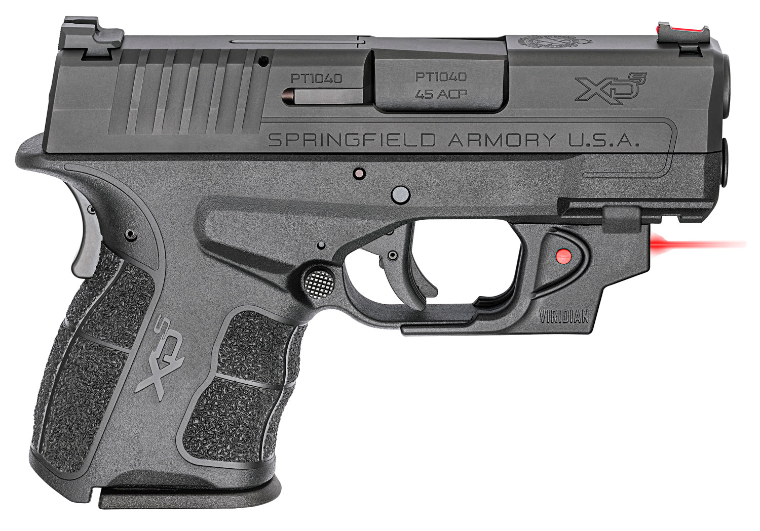 XDE 45ACP BLK 3.3 7+1 RD LSR - RED VIRIDIAN LASER | 2 MAGS