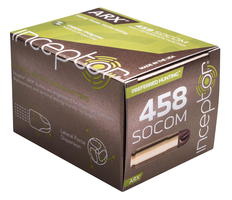 Inceptor 458ARXBR200 Preferred Hunting 458 SOCOM 200 GR ARX 20 Bx/ 10 Cs