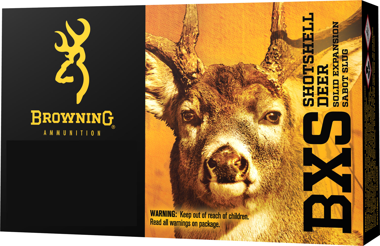 Browning Ammo B192403001 BXS Solid Expansion 300 Winchester Magnum 180 GR Lead-Free 20 Bx/ 10 Cs