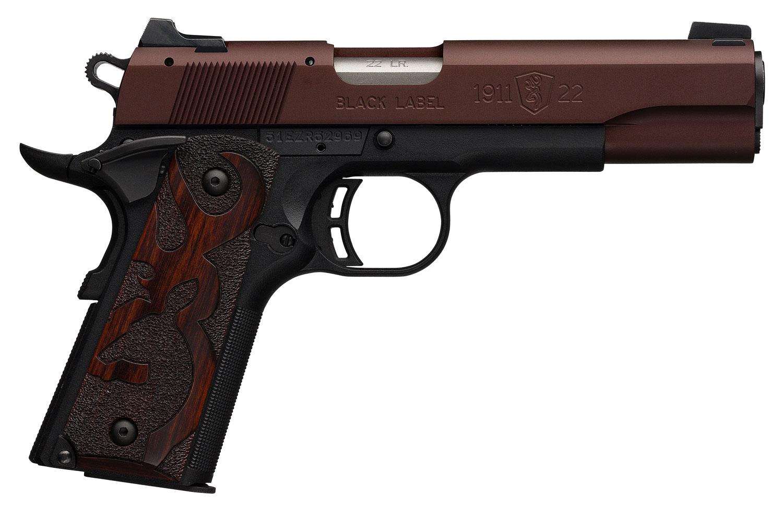 Browning 051865490 1911-22 Black Label Single 22 Long Rifle (LR) 4.25