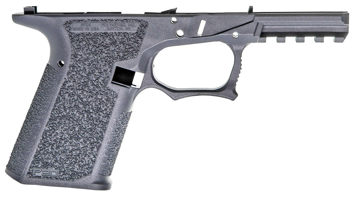 Polymer80 P80PFC9GRY G19/23 Gen3 Compatible 80% Pistol Frame Polymer Gray Serialized