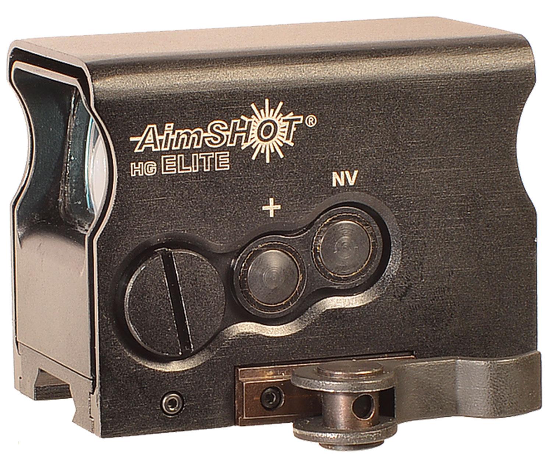 Aimshot HGELITECGREE HG Elite  1x 34mm 65 MOA Circle/2 MOA Green Dot CR2 Black