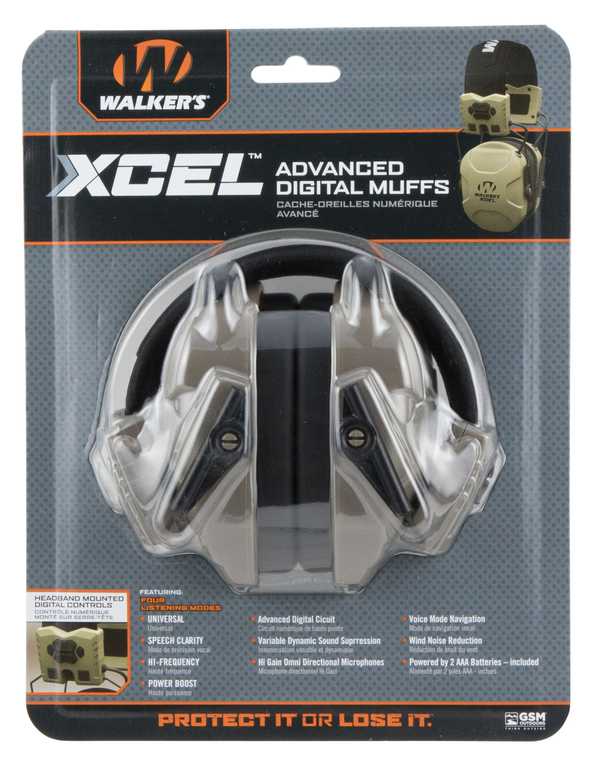 WALKERS MUFF XCEL 100 DIGITAL ELECTRONIC W/VOICE CLARITY