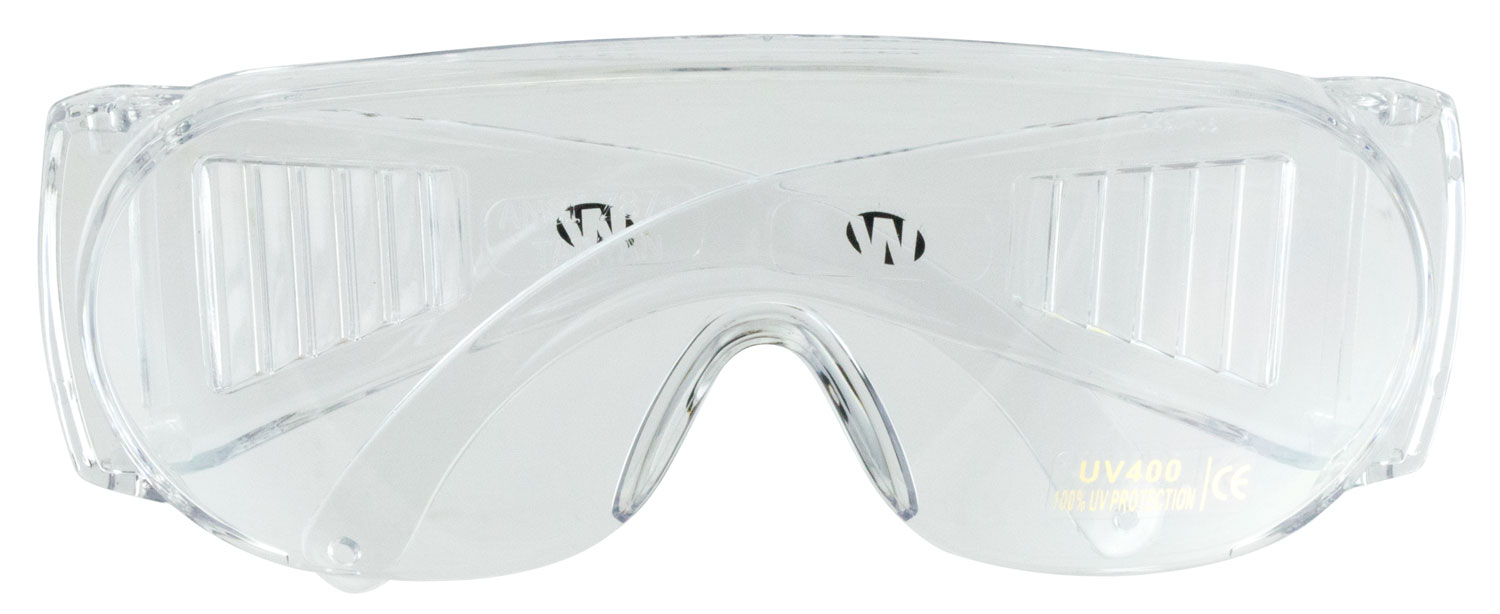 Walkers GWPFCSGLCLR Shooting Glasses Full Coverage Shooting/Sporting Glasses Wraparound Polycarbonate Clear