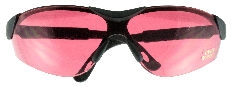 Walkers GWPXSGLVER Shooting Glasses Elite Shooting/Sporting Glasses Black Frame Polycarbonate Vermillion Lens