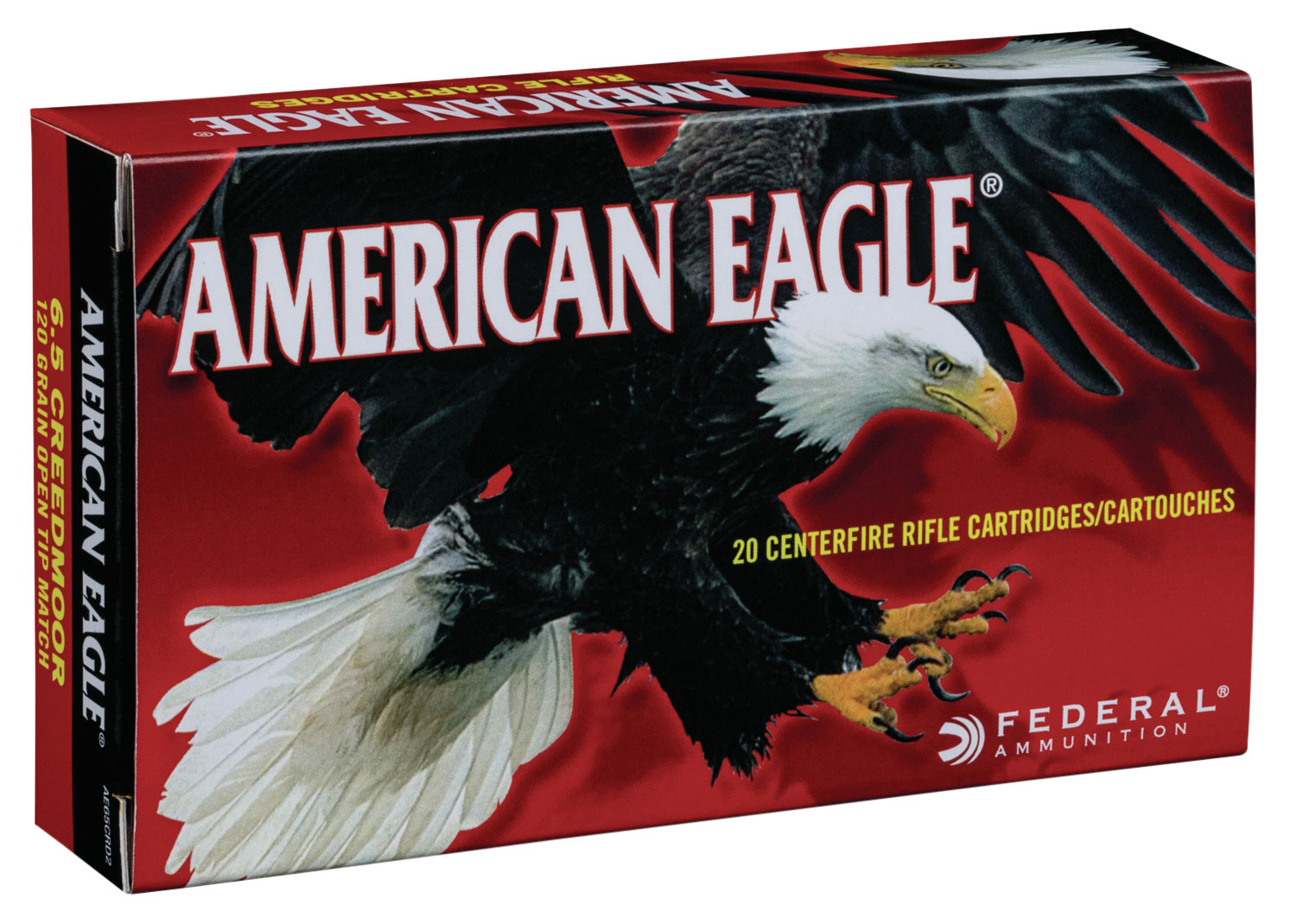 Federal AE65CRD2 American Eagle Rifle  6.5 Creedmoor 120 GR Open Tip Match 20 Bx/ 10 Cs