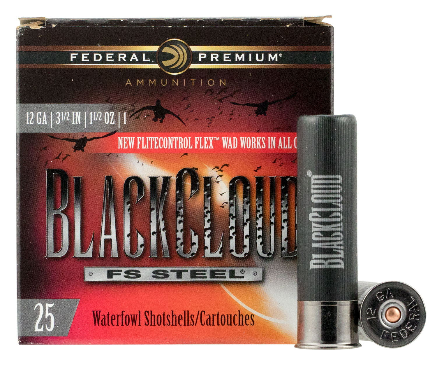 Federal PWBX1341 Black Cloud FS Steel 12 Gauge 3.50