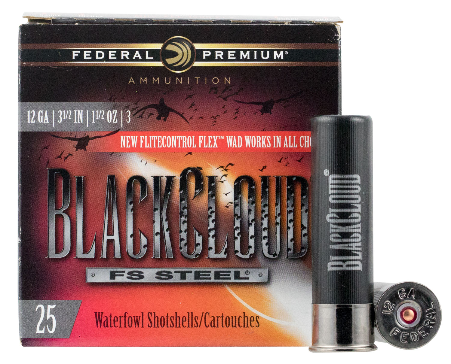 Federal PWBX1343 Black Cloud FS Steel 12 Gauge 3.50
