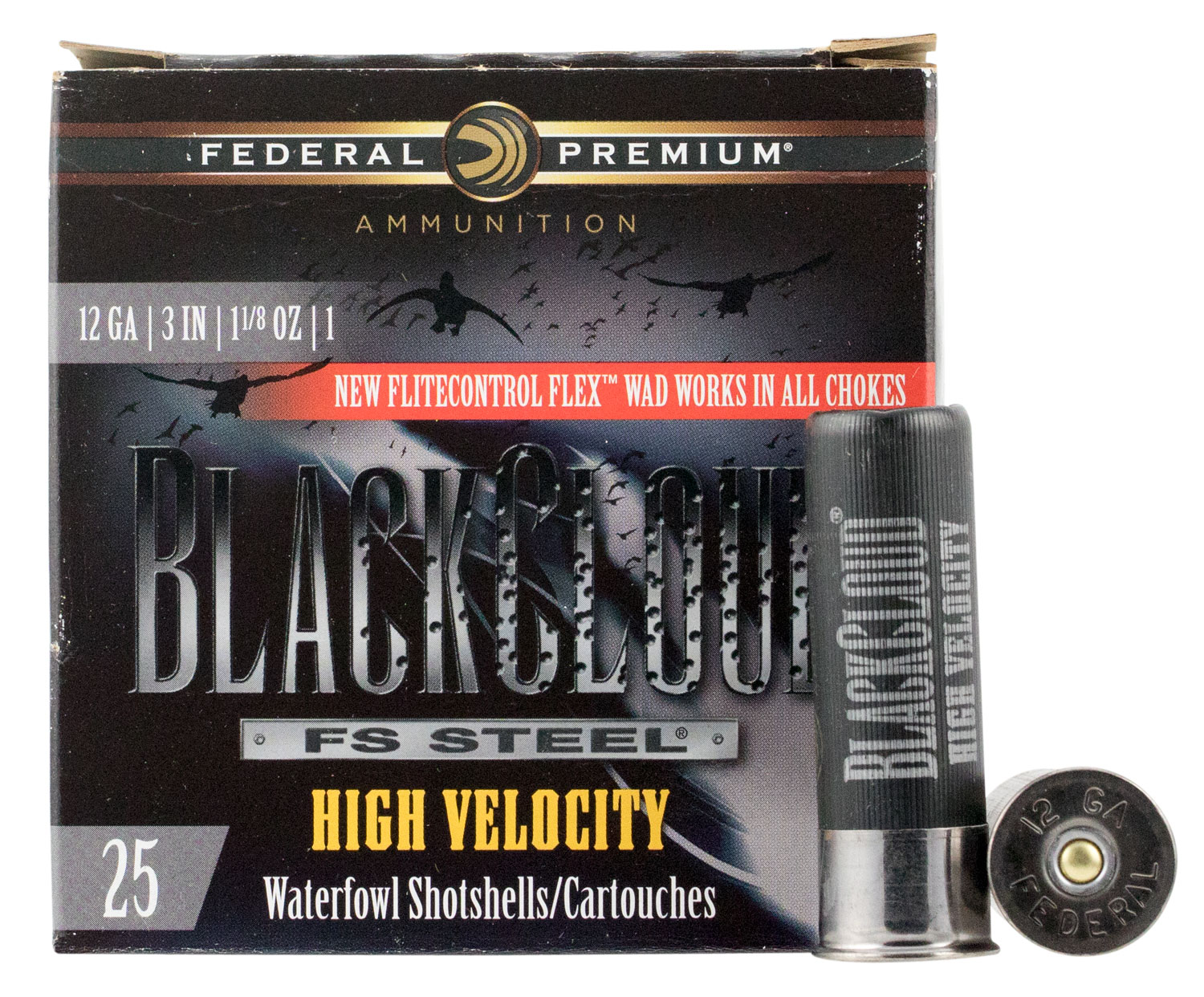 Federal PWBX1431 Black Cloud FS Steel High Velocity 12 Gauge 3