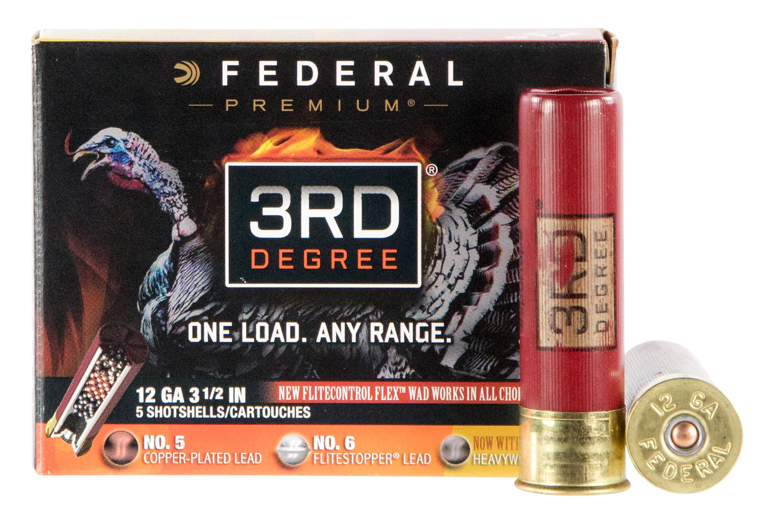 Federal PTDX157567 3rd Degree Turkey  12 Gauge 3