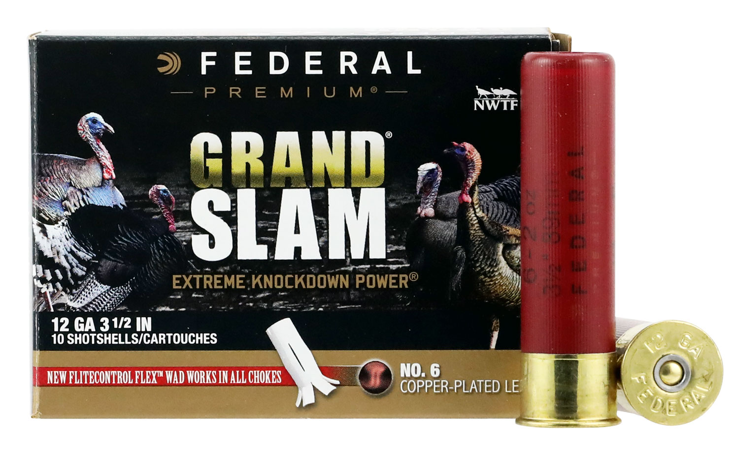 Federal PFCX139F6 Grand Slam Turkey  12 Gauge 3.5