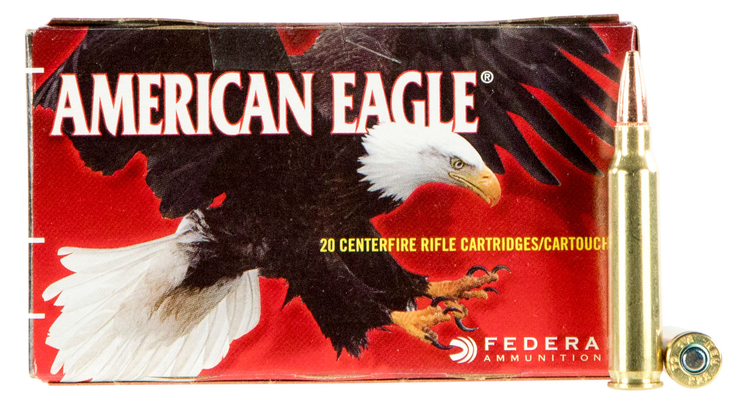 Federal AE223T75 American Eagle Rifle  223 Remington/5.56 NATO 75 GR Total Metal Jacket 20 Bx/ 25 Cs