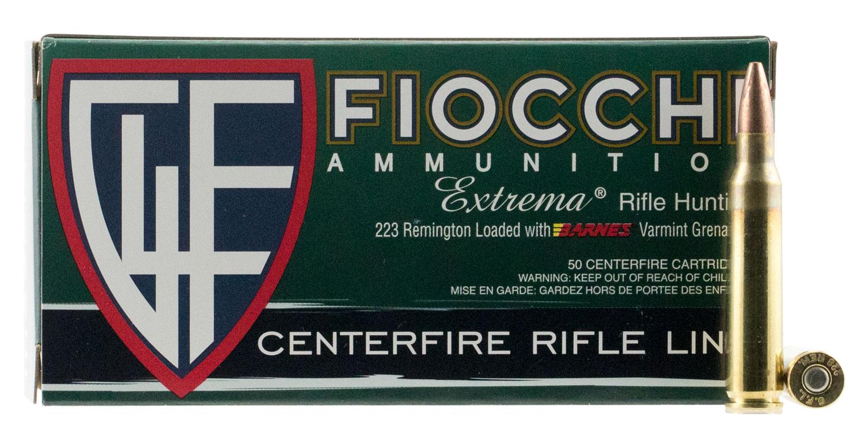 Fiocchi 223VGNT Extrema 223 Remington/5.56 NATO 50 GR Hollow Point Flat Base 50 Bx/ 10 Cs