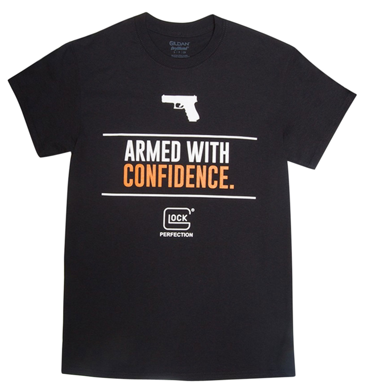 Glock AP95040 Armed With Confidence T-Shirt Short Sleeve Small Black