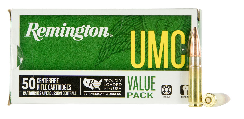 Remington Ammunition L300AAC1V UMC Value Pack 300 AAC Blackout/Whisper (7.62x35mm) 120 GR Open Tip Flat Base 50 Bx/ 8 Cs