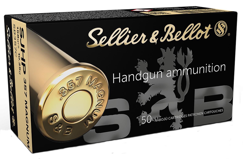 Magtech SB357C  Pistol & Revolver Cartridges  357 Magnum 158 GR Semi Jacketed Hollow Point 50 Bx/ 20 Cs