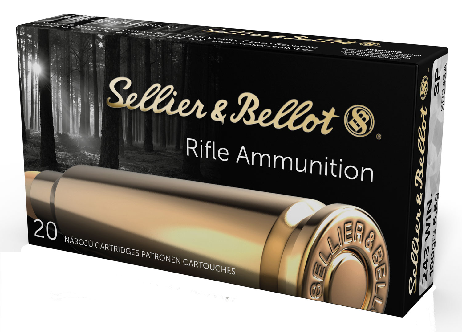 Sellier & Bellot SB308SUBA Rifle Subsonic 308 Winchester (7.62 NATO) 200 GR Hollow Point Boat Tail 20 Bx/30 Cs