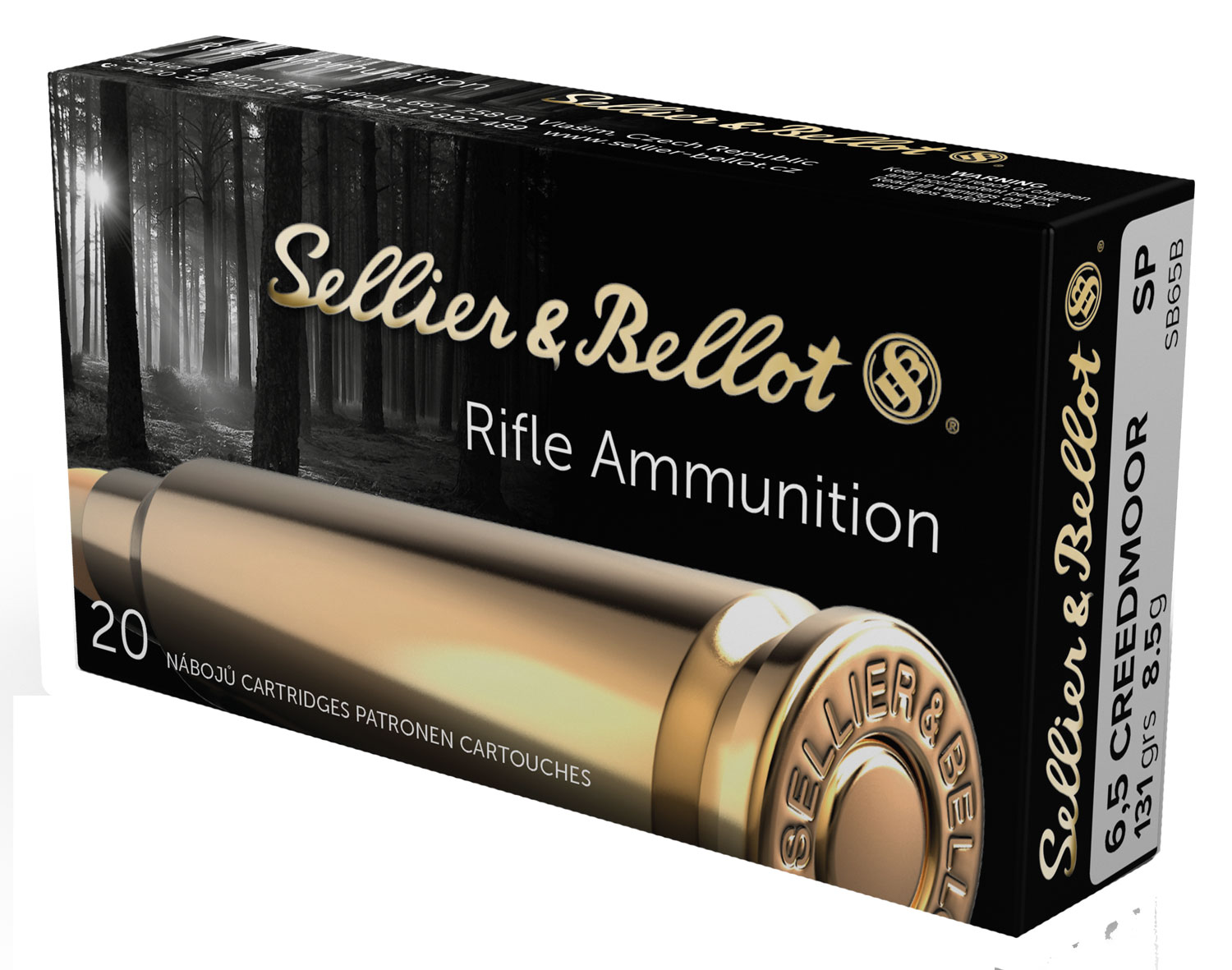 Sellier & Bellot SB65B 6.5 Creedmoor 131 GR Soft Point 20 Bx/ 25 Cs