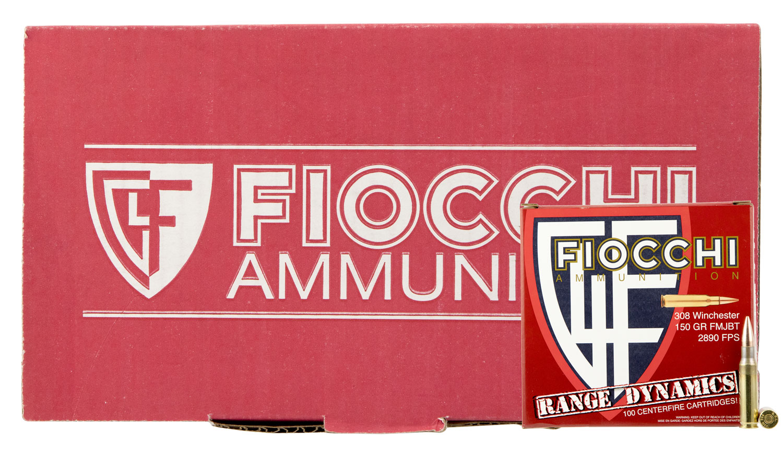 Fiocchi 308ARD Range Dynamics Rifle 308 Winchester/7.62 NATO 150 GR Full Metal Jacket Boat Tail 100 Bx/ 4 Cs