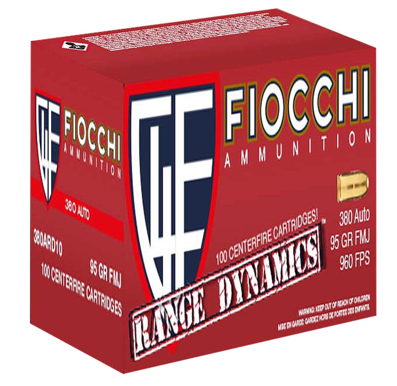 Fiocchi 380ARD Range Dynamics Pistol 380 Automatic Colt Pistol (ACP) 95 GR Full Metal Jacket 200 Bx/ 5 Cs