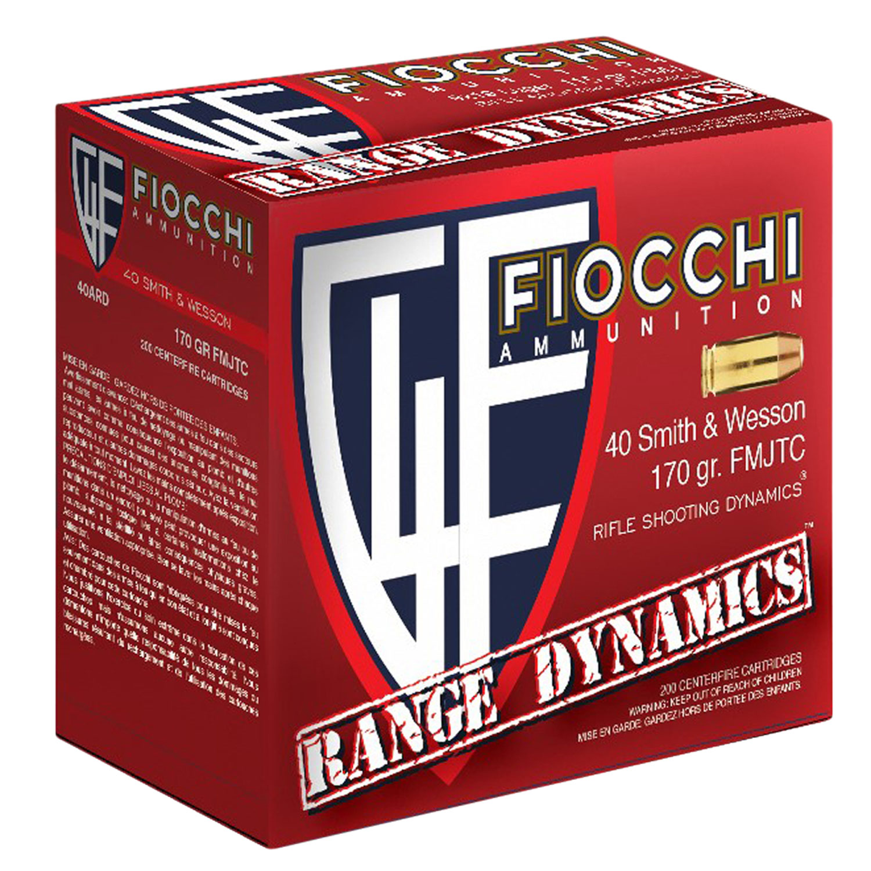 Fiocchi 40ARD Range Dynamics Pistol 40 Smith & Wesson 170 GR Full Metal Jacket Truncated Cone 200 Bx/ 5 Cs
