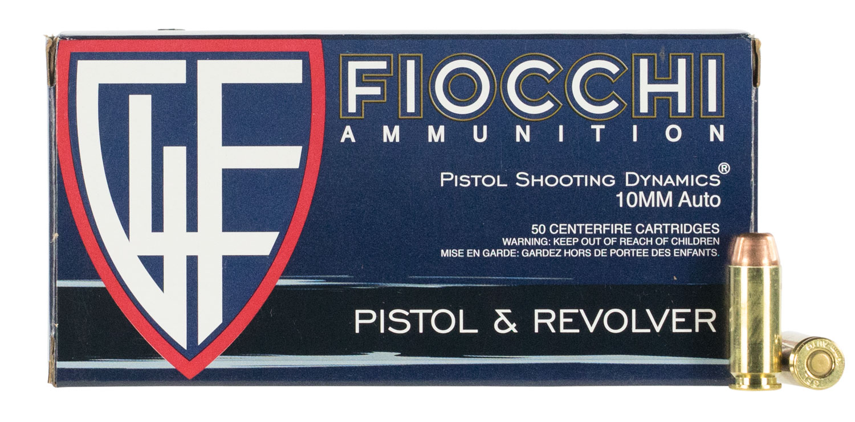 Fiocchi 10AP Shooting Dynamics Pistol 10mm 180 GR Full Metal Jacket Truncated Cone 50 Bx/10 Cs