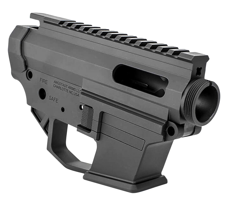 Angstadt Arms AA1045RSBA 1045 Lower Receiver Set AR-15 Platform 45ACP 7075 T6 Aluminum Black Hardcoat Anodized