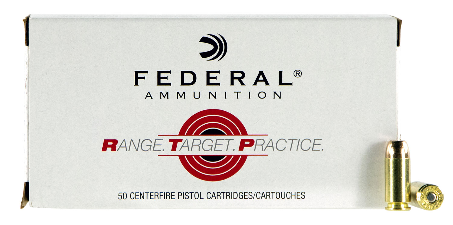 Federal RTP40165 Range and Target  40 Smith & Wesson (S&W) 165 GR Full Metal Jacket 50 Bx/ 20 Cs