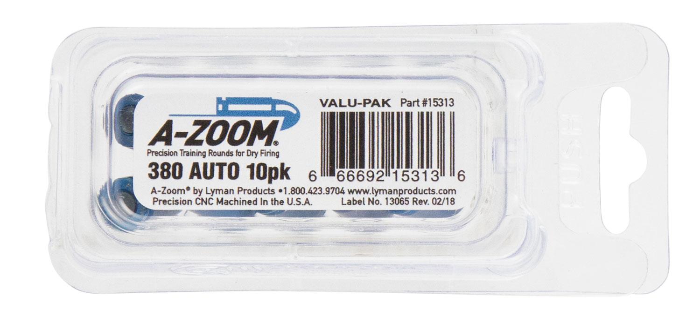 AZOOM SNAP CAPS 380ACP 10PK BLUE