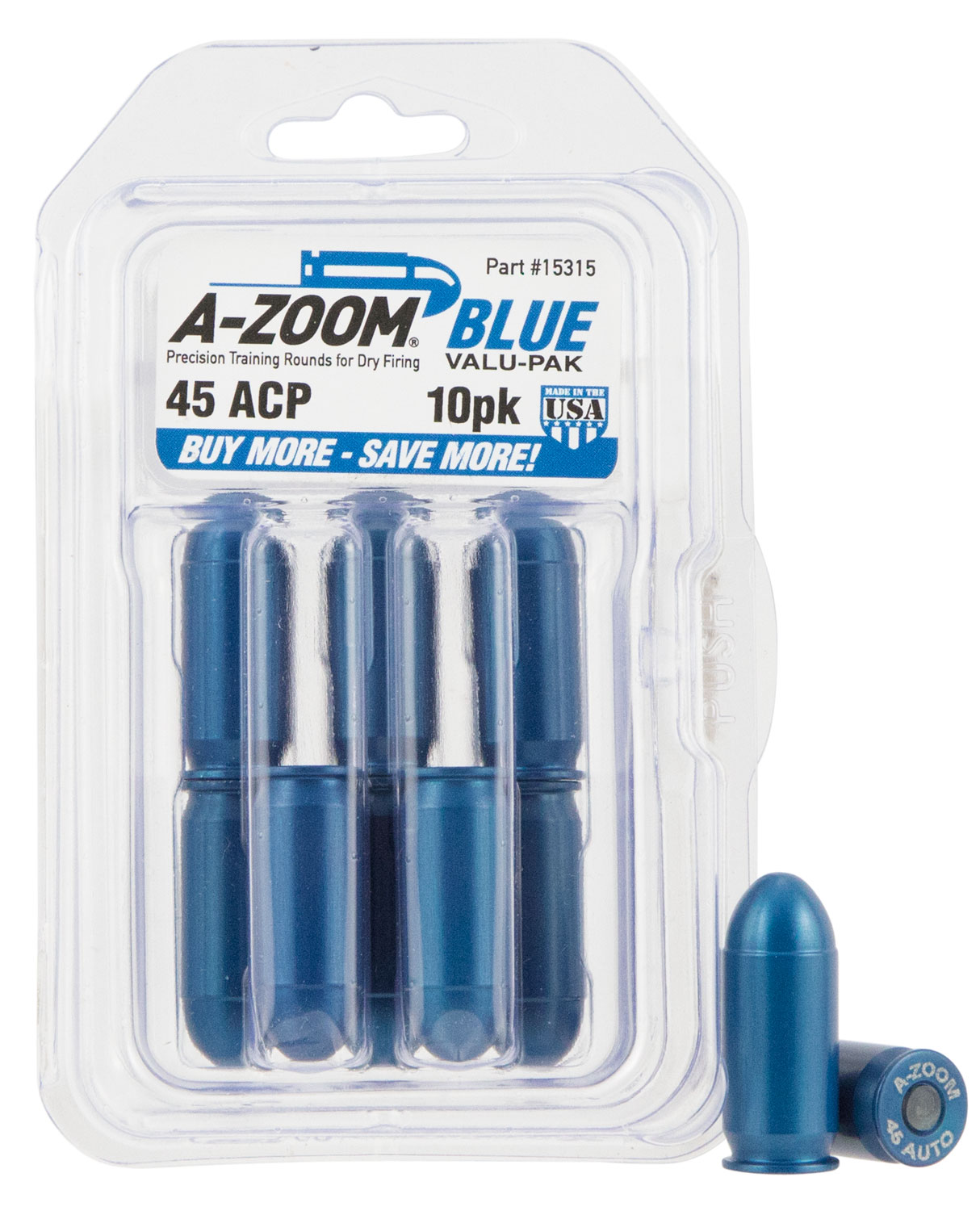 A-Zoom 15314 Snap Caps  40 Smith & Wesson Aluminum 10 PK