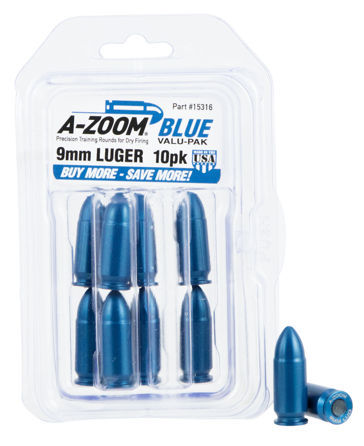 AZOOM SNAP CAPS 9MM 10PK BLUE