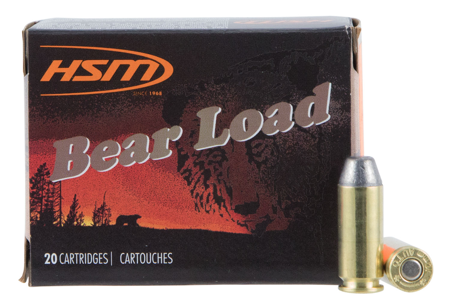 HSM 10MM9N20 Bear Load  10mm 200 GR Round Nose Flat Point 20 Bx/ 20 Cs