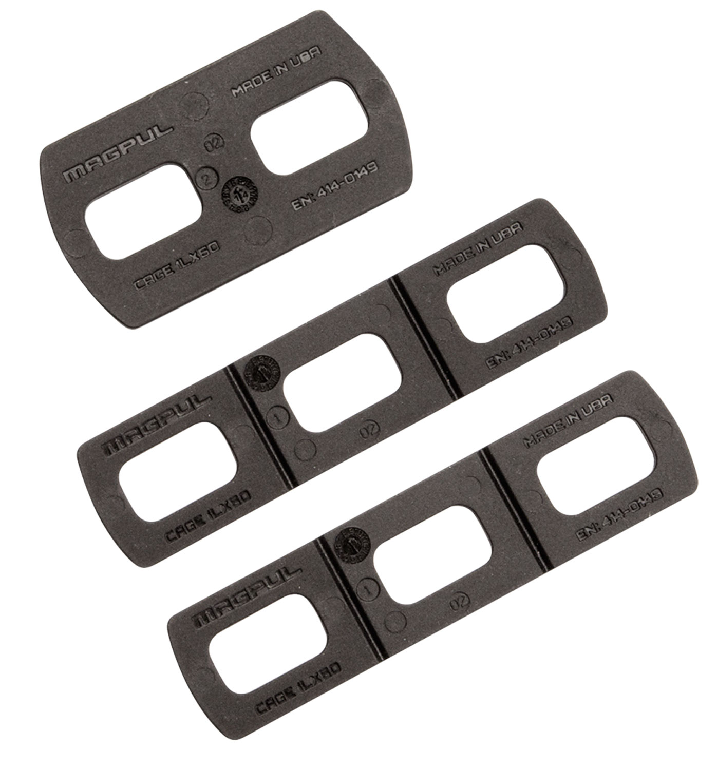 Magpul MAG478-BLK M-LOK to MOE Adapter Kit  Black Adapter Plates